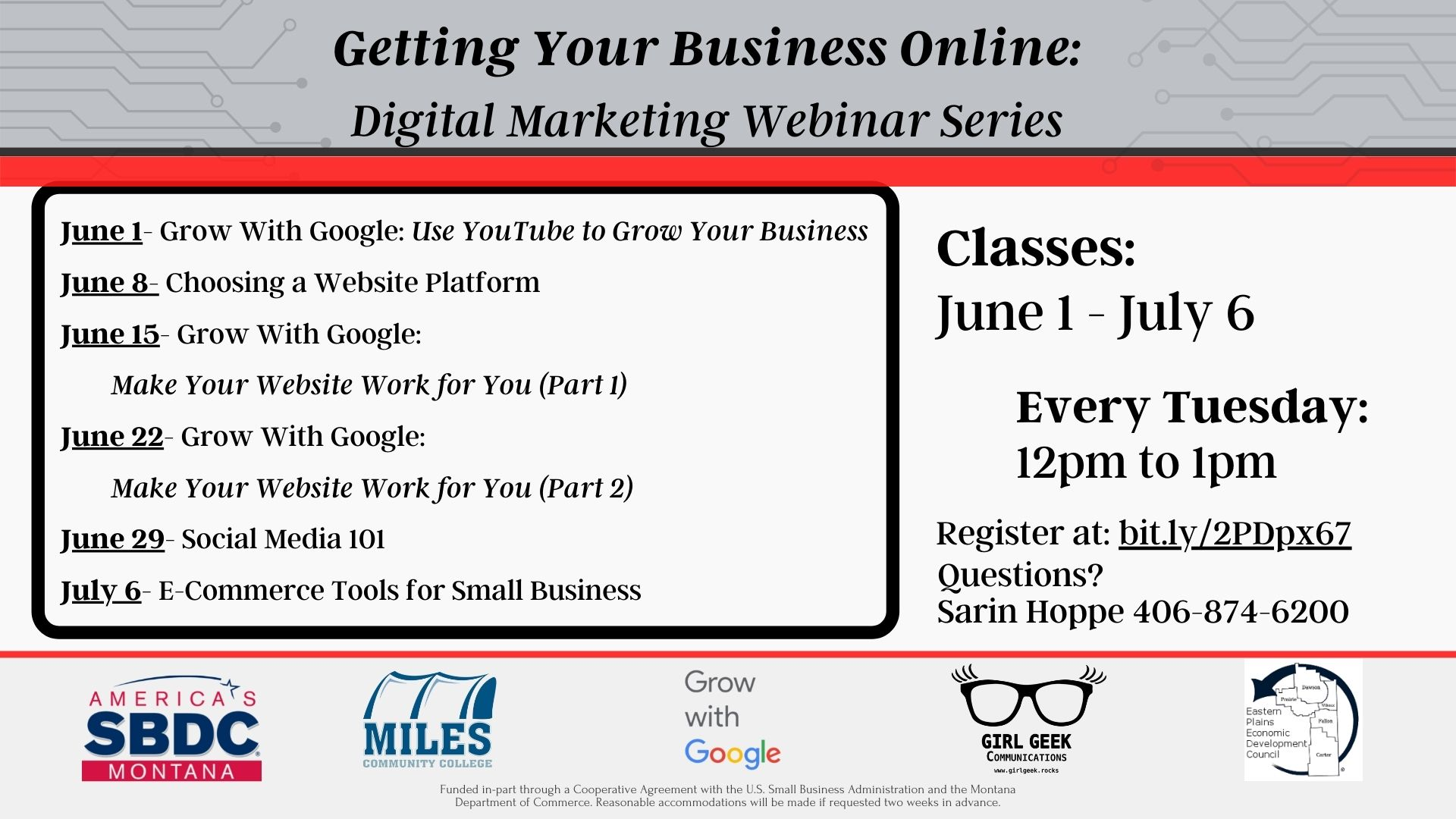 digital marketing webinar series